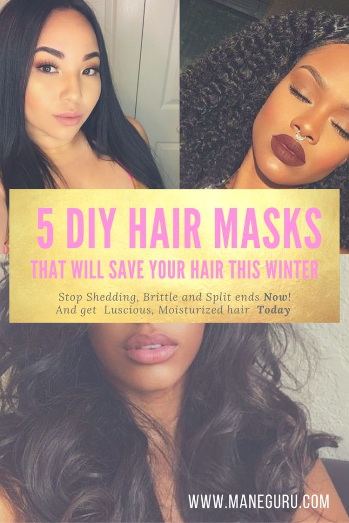 Is your Hair Shedding,Splitting and not growing this Winter? Here are 5 DiY Hair Masks that will moisturize and bring your Hair back to life. Click to read more at ManeGuru.com
