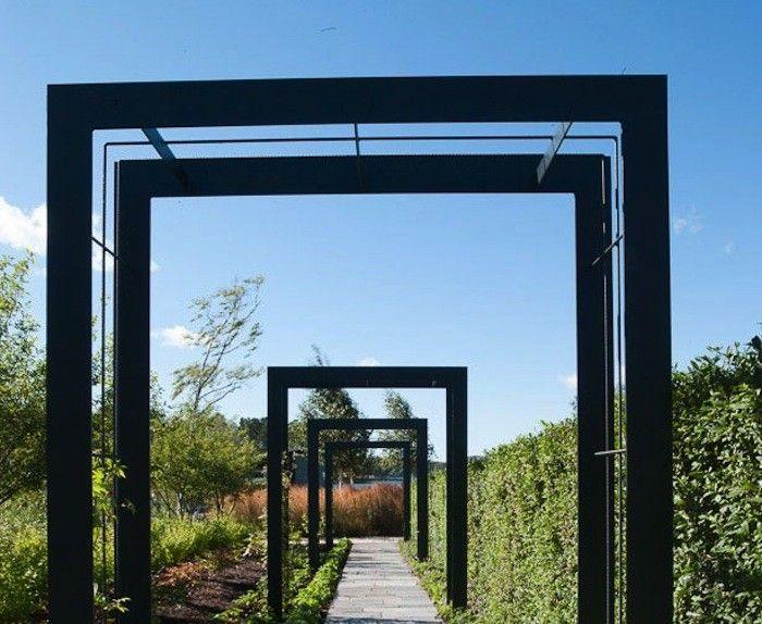 @Nordfjell steel archways via @Christina Tenhundfeld.