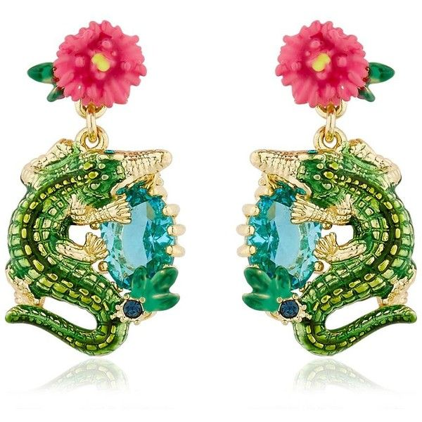 Les Néréides Women Jungle Tropicale Earrings ($120) ❤ liked on Polyvore featuring jewelry, earrings, multicolor, tri color earrings, multicolor jewelry, multicolor earrings, les nereides jewellery and les nereides earrings