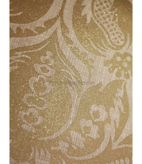 This Teramo Gold Damask Wallpaper by Arthouse features an ornate damask pattern in gold that is infused with shimmering glitter particles. Free UK delivery available.