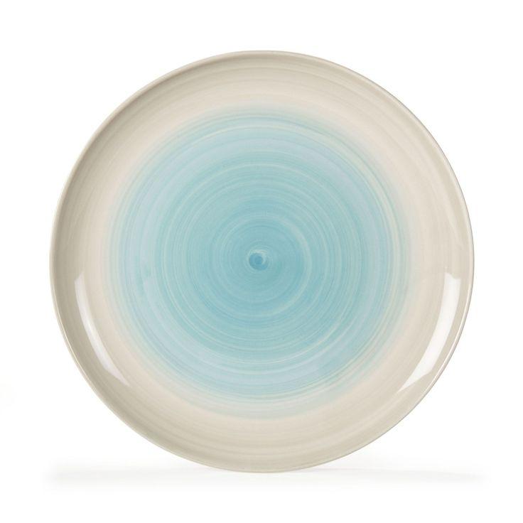 assiette plate effet ombr bleu bicolore crmebleu spray les assiettes plates - La Table D Elise Le Mans