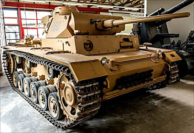 This German Panzer III Tank Ausf. M can be found at the German Tank Museum – Deutsches Panzermuseum in Munster, Germany.