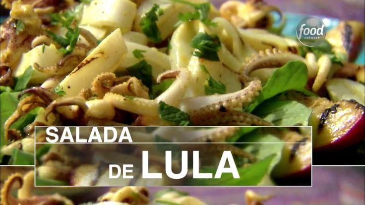 Ingredientes: Ervas e Temperos: Alho Ingrediente Principal: Nectarina, Lula Para a salada de lula: 3 dentes de alho picados Suco de 2 limões-taiti 1/4 xícara...