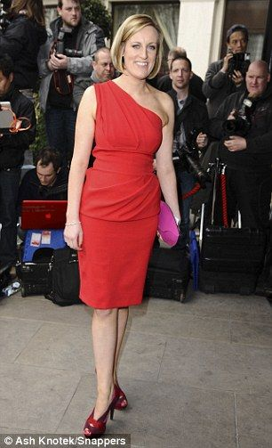 Glamorous: Steph McGovern at the TRIC awards ceremony in London with pink leather clutch by Steven Harkin