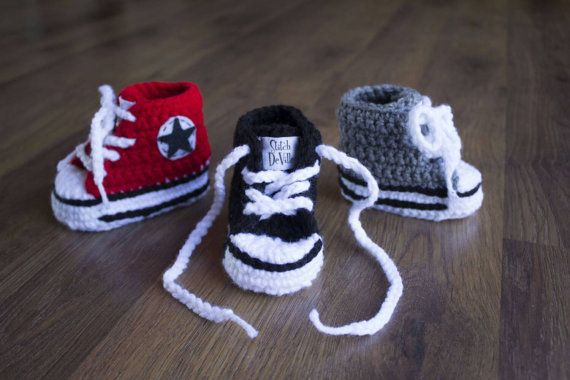 Hey, I found this really awesome Etsy listing at https://www.etsy.com/listing/251934244/crochet-converse-style-baby-booties-in