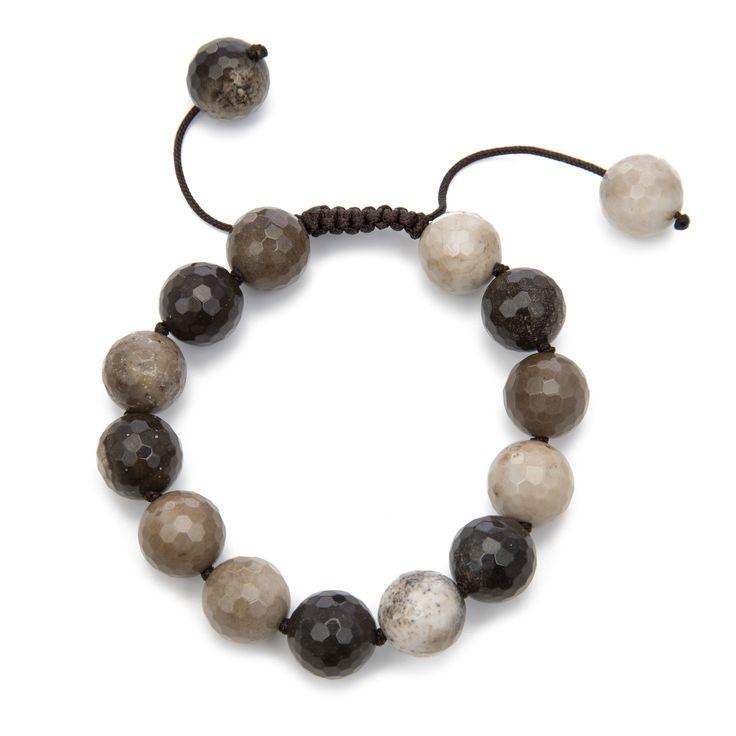 White Pearl with Adventurine Pull Bracelet