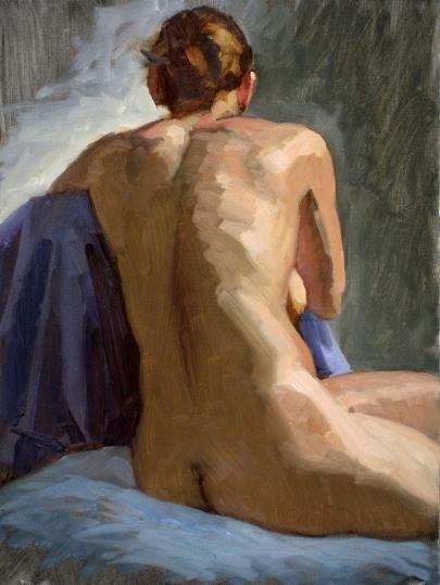 Paul Schulenburg - Seated Figure Study