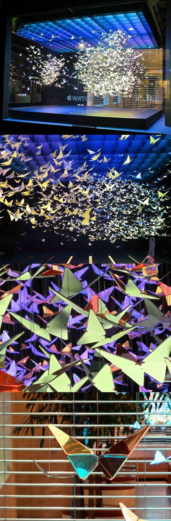 2015 - Apple Watch Commercial Kaleidoscope of Butterflies in Selfridges, London