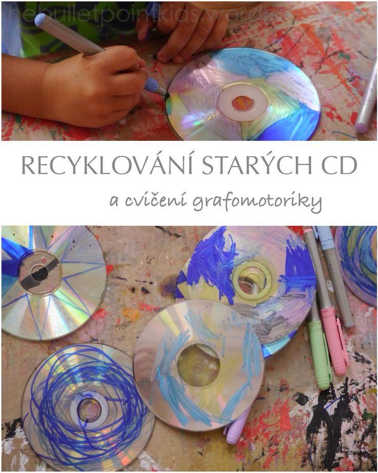 Recyklování starých cédéček - malování s dětma