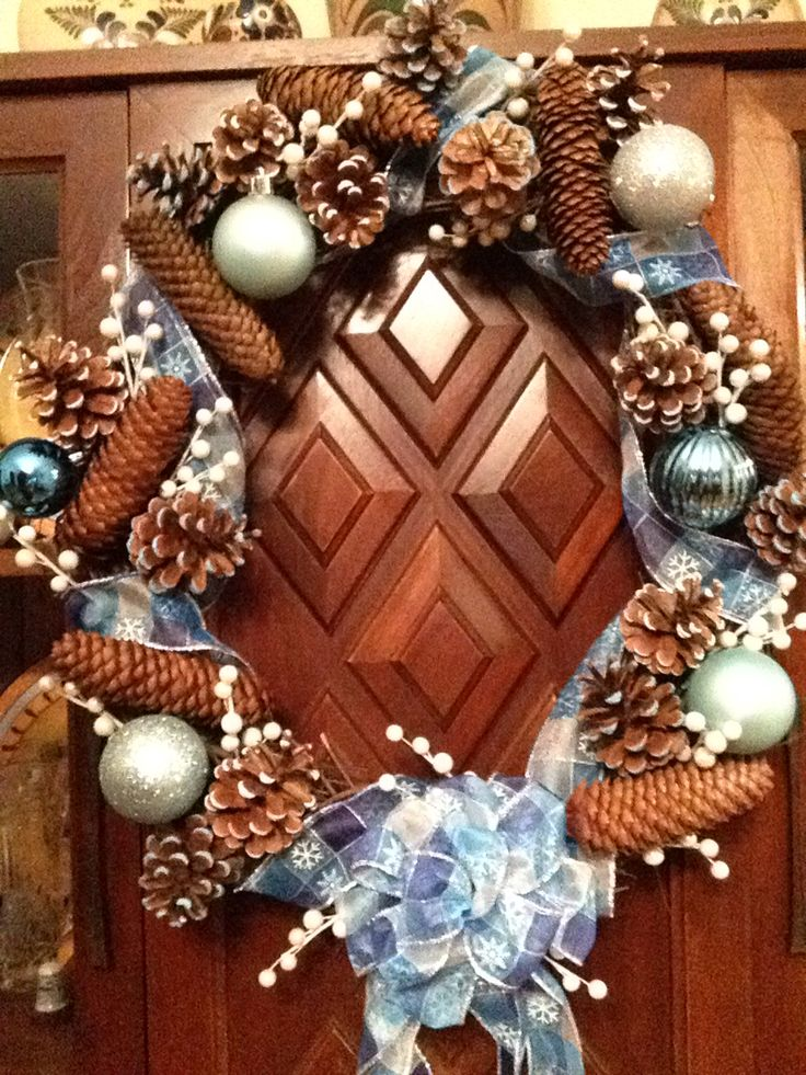 Wreath for dining room. Made Nov.21/2014