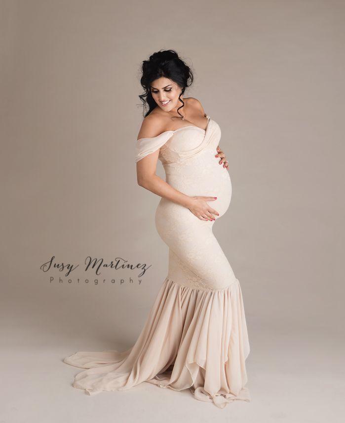 Champagne Maternity Dresses
