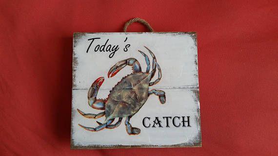 Blue crab decor Crabbing gift Maryland crab gift