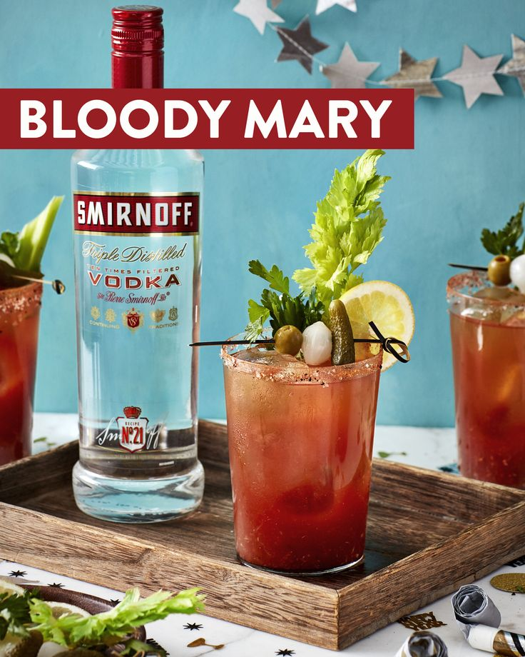Those fireworks last night don't have anything on this explosively delicious Bloody Mary. Light up your brunch this new year with this Smirnoff cocktail. Recipe: 1.5 oz Smirnoff No. 21 Vodka, 3.5 oz tomato juice 0.5 oz lemon juice, 0.5 tsp grated horseradish, dash of worcestershire sauce and hot sauce, pinch of pepper, salt, paprika. Garnish with just about anything!