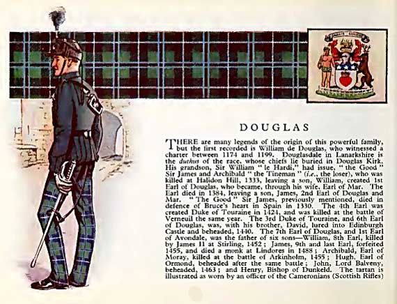 Clan Douglas, their Castle and information.
