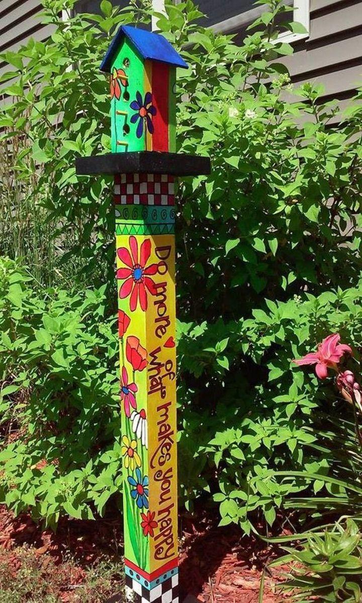 34 best peace poles images on pinterest garden art for Garden art pole