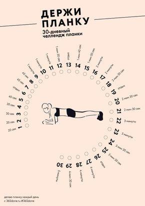 Планка – прекрасное упражнение для мышц всего тела. Попробуйте довести время стояния в планке до 5 минут за ближайшие 30 дней. - #365done