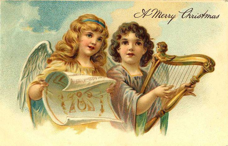 Artesanato e Cia : Figuras vintage de anjos-cartões de natal-decoupage