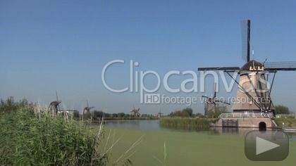 Download this free stock footage clip of windmills, waterwindmills, mills, offered by JaRos. Buy stock footage at Clipcanvas.com