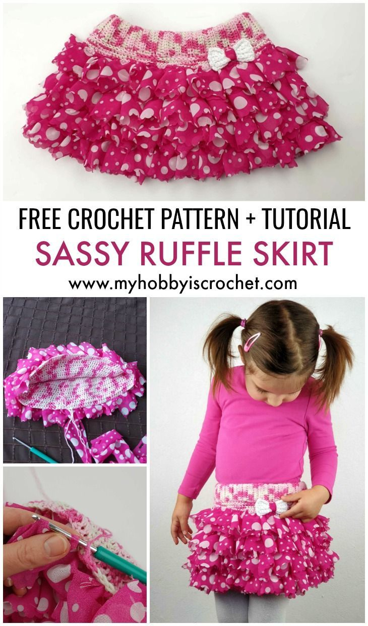 b7872b037922 This adorable ruffle skirt with elasticized waistband is made with Red  Heart Boutique Sassy Fabric yarn