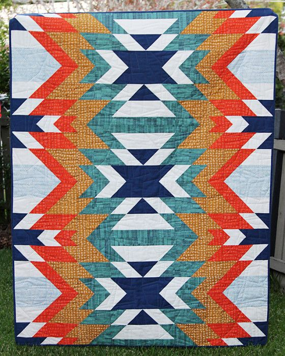 Go West quilt pattern by Bonjour Quilts. 2015 Bloggers Quilt festival.