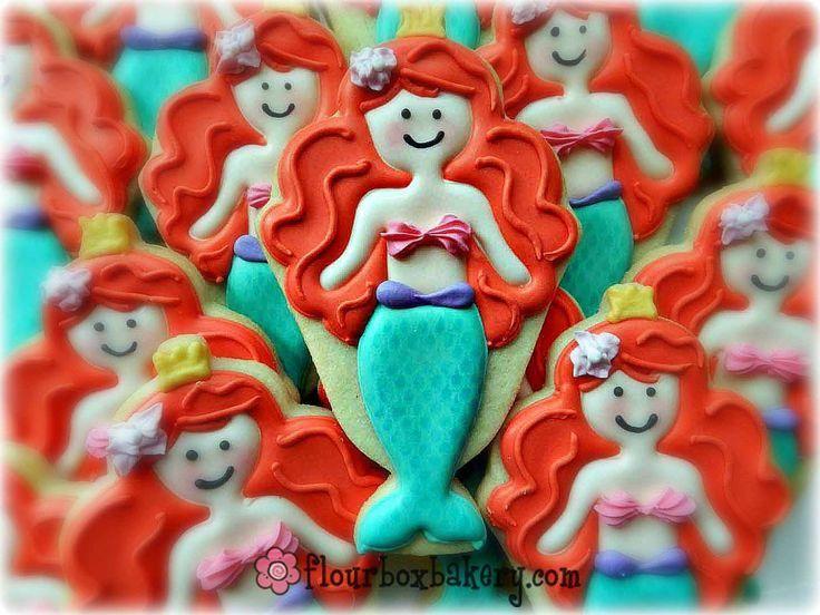 Little mermaid cookies De kleine zeemeermin koekjes | Cookies ...