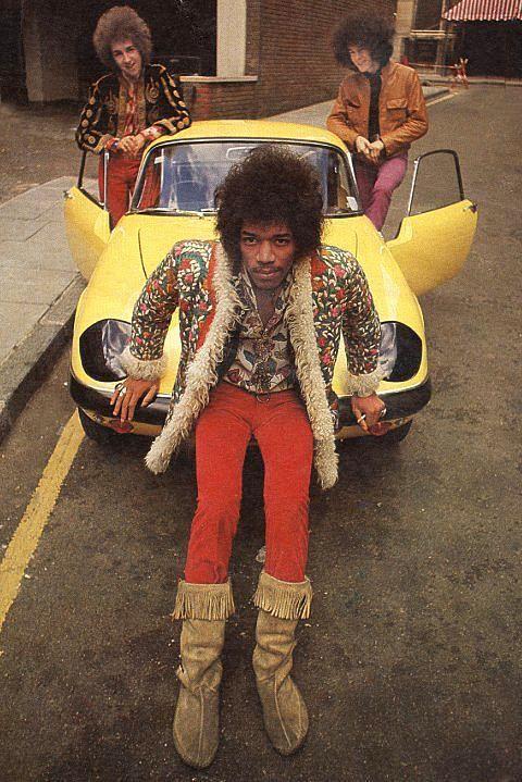 Jimi Hendrix experience in London...Jimi is my main inspo for decor lol