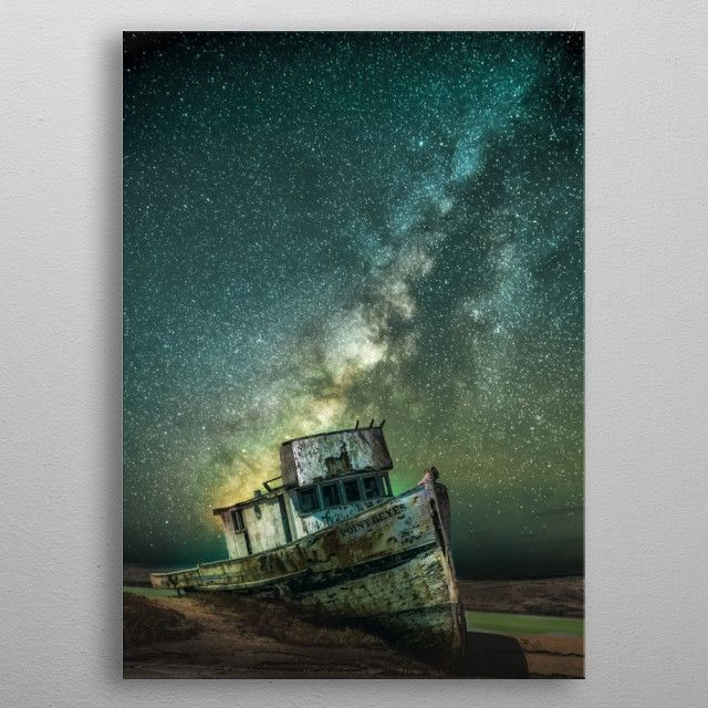 stars space boat abandoned universe galaxy Photography