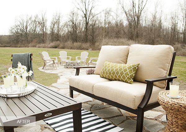 Patio Decor Ideas: Hampton Bay Patio Set Is Featured In A Beautiful Patio  Makeover