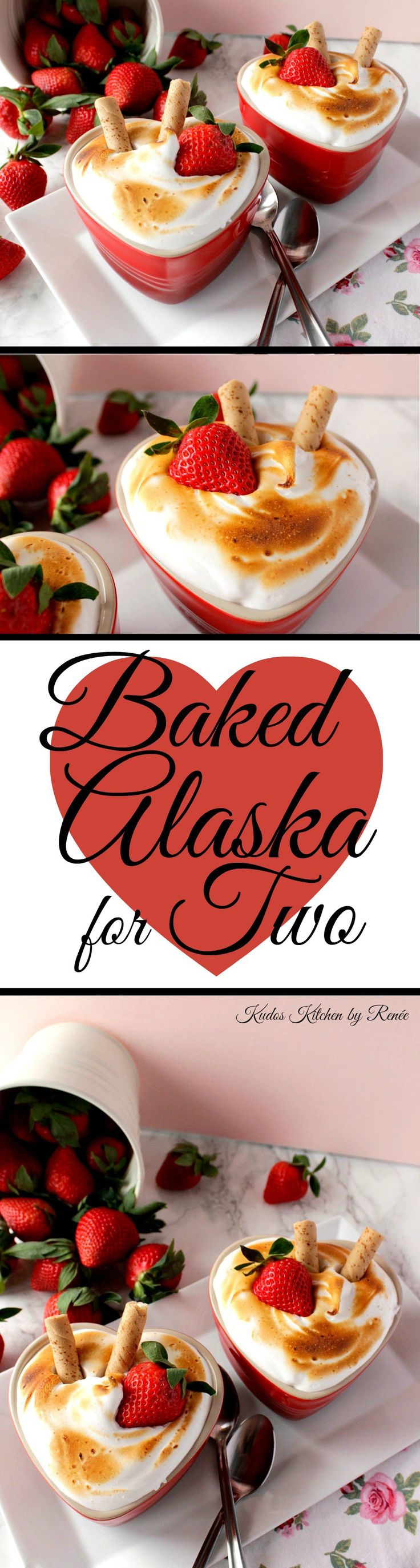 You can serve these Mini Baked Alaska in about 20 minutes from start to flourish with only four ingredients and absolutely no baking!