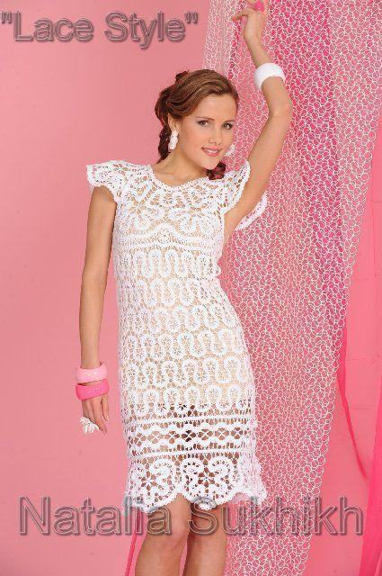 Авторское кружевное платье Ромашки