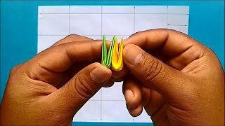 Como hacer piezas de Origami 3D (Segunda versiòn) - YouTube
