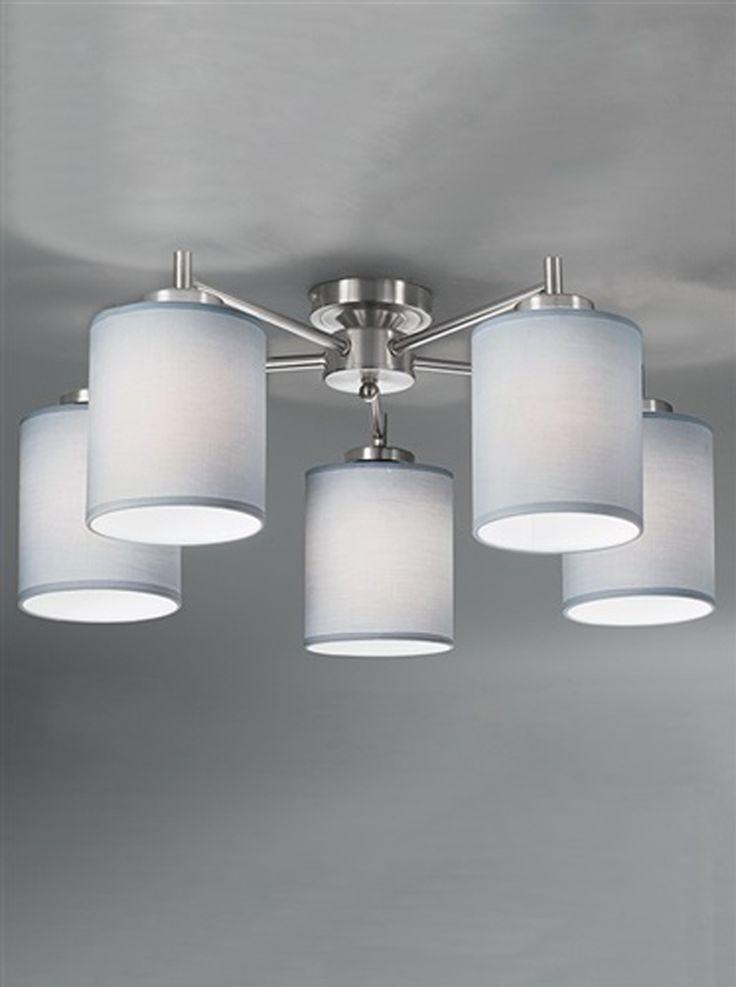 Franklite 'Vivace' 5 Light Ceiling Light Polished Chrome - FL2315/5 None