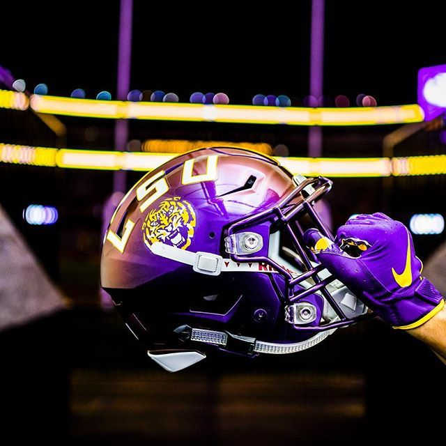 Ready To Get It Under The Lights Lsu Tigers Football Lsu Football Lsu Tigers