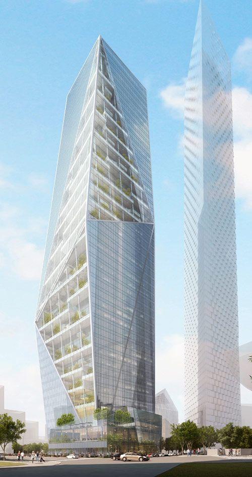 Harmony Tower, Seoul, South Korea by Daniel Libeskind Architect