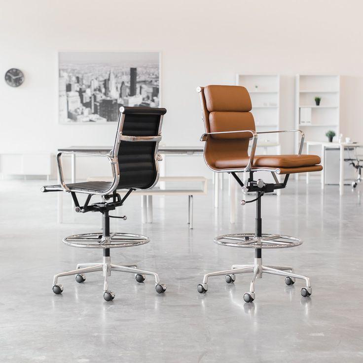 Soho soft pad drafting chair brown in 2020 drafting