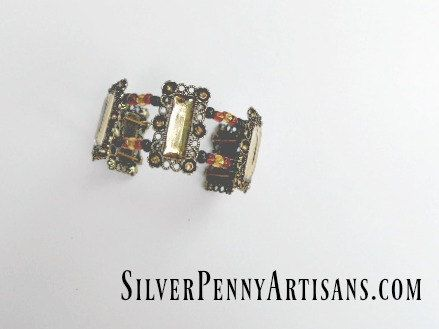 Art Deco Jewelry/ Art Nouveau Jewelry/ Size by SilverPennyArtisans  PINTEREST10 for 10% off at SilverPennyArtisans.com