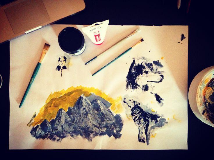 #like #likes #illustration #drawing #dessin #husky #sketch #eskiz #dibujo #art #artoftheday #portraitdrawing #fineart #イラ #アート #рисунок #desenho #instalike #mountains #zeichnung #painting #igart #gesture #tutorial #drawingtutorial #acrylic #colourful #like #colours #paint