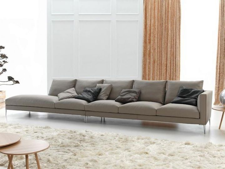 A Beige Living Room Would Look Both Formal And Stylish Slim Sofa 470 X