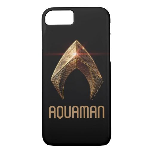 Justice League | Metallic Aquaman Symbol iPhone 8/7 Case