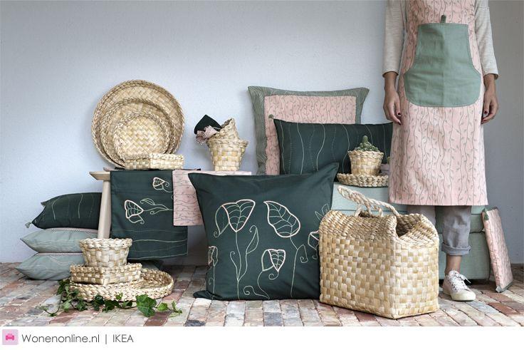 Nieuw: IKEA HEMGJORD - De voorjaarscollectie bestaat uit kussenovertrekken, placemats, servetten, tafellopers en manden van duurzame bananenvezels. Je vindt de HEMGJORD limited collectie vanaf nu bij alle IKEA winkels in Nederland.