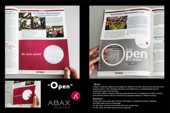 Abax Corporate Services: Open hole in one : )
