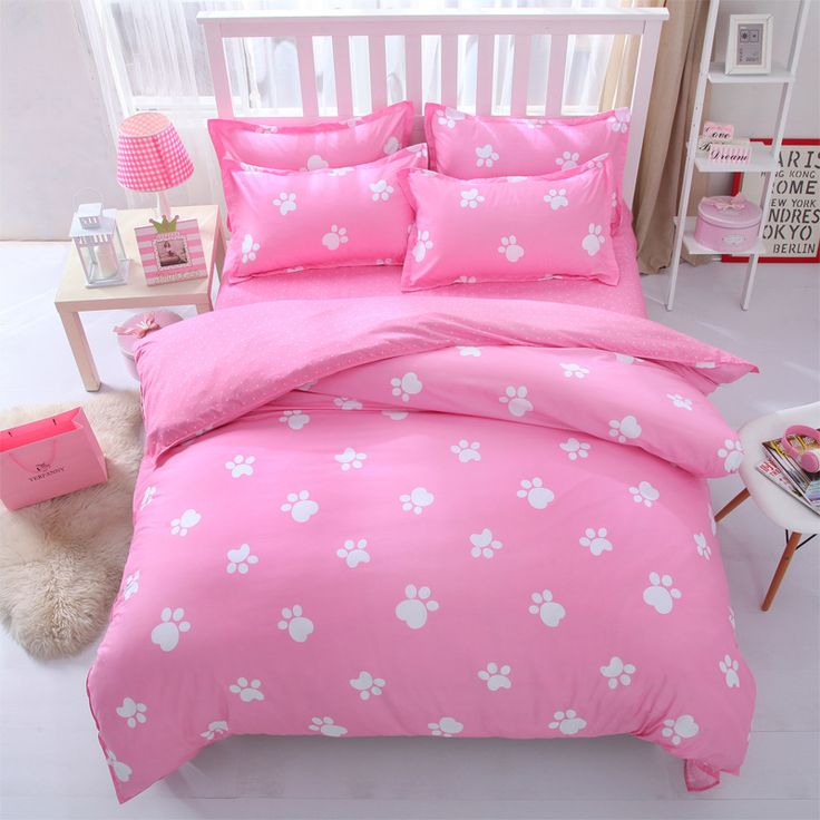 victoria secret pink king queen Single size - bed linen bedding sets bedclothes duvet cover bed sheet pillowcases -capa edredom  #Affiliate