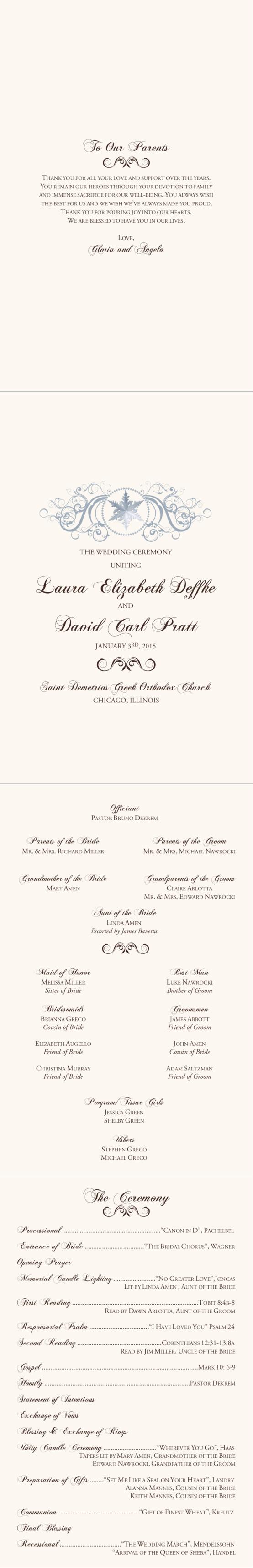 Relatively 11 best wedding programs images on Pinterest | Catholic wedding  VX82