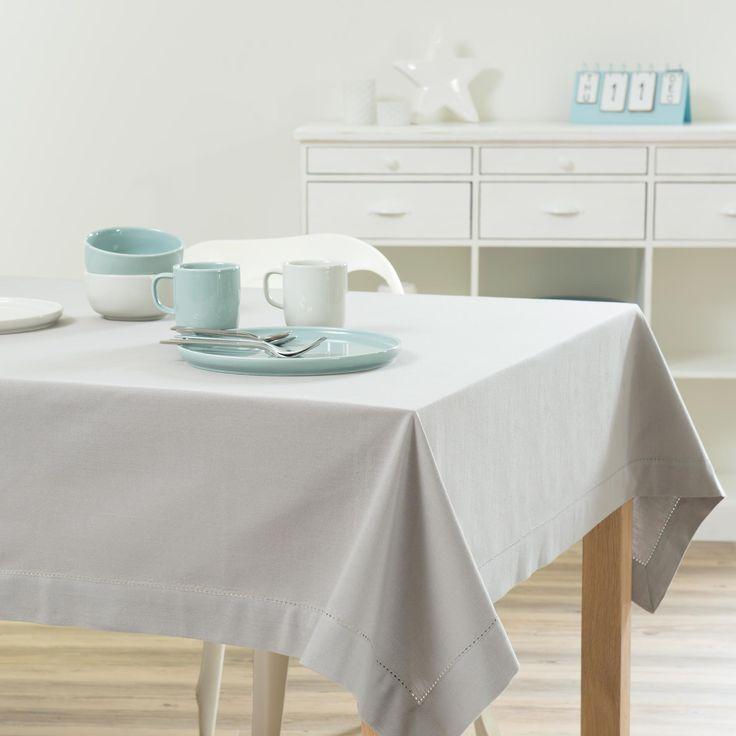 Nappe unie en coton grise 150 x 250 cm - Maison du Monde 30€