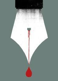 Bleeding emotions into work.