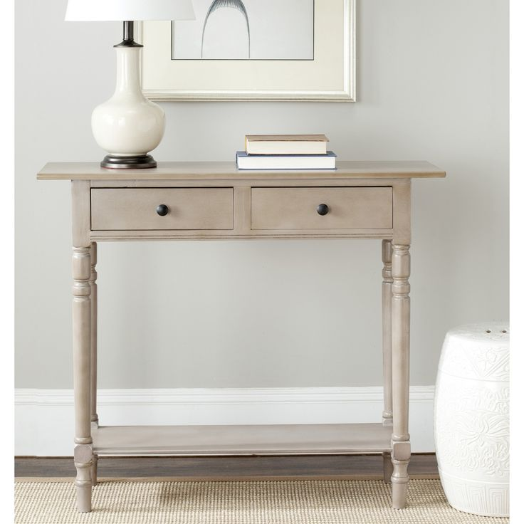 Safavieh Cape Cod Grey 2-drawer Console Table | Overstock™ Shopping - Great Deals on Safavieh Coffee, Sofa & End Tables