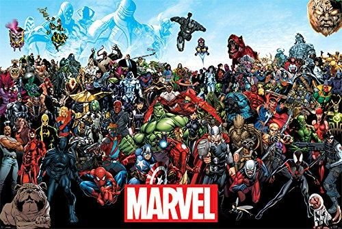Marvel Comics Universe Poster - ALL Marvel Characters
