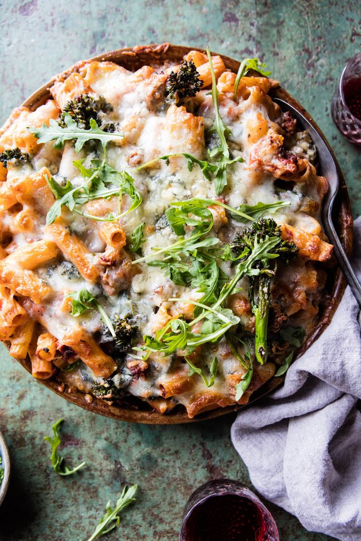 Rigatoni Broccoli Rabe Bake - a cozy pasta bake that's the perfect winter meal...and enjoyed by all! @halfbakedharvest.com
