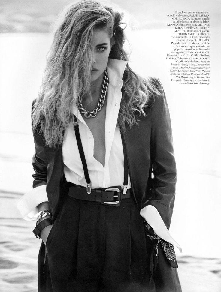 Extérieur Jour | Doutzen Kroes | Inez van Lamsweerde and Vinoodh Matadin #photography | Vogue Paris October 2012 | http://www.dnamodels.com/women-main-board/doutzen-kroes/highlights/vogue-paris-october-2012/view-all