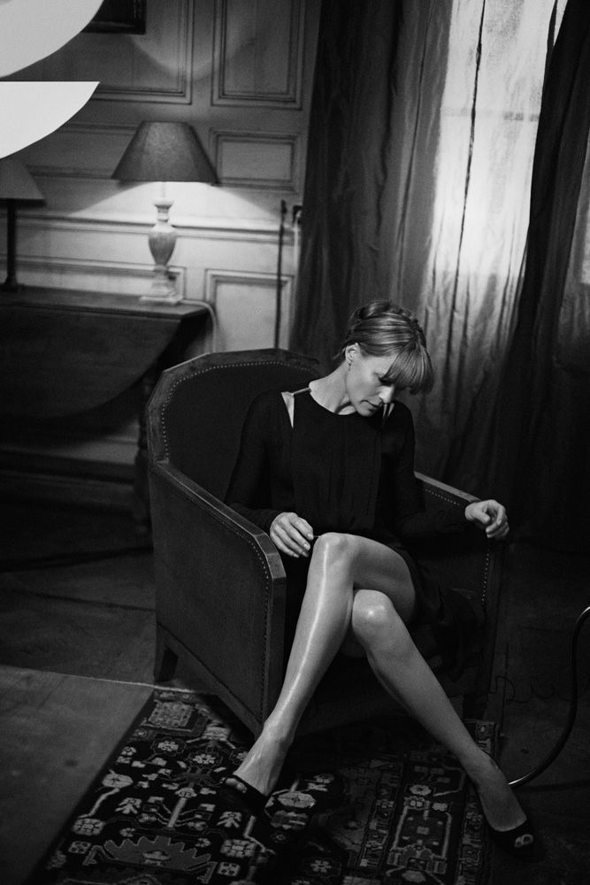 Reserved elegance ... Robin Wright from House of Cards ...